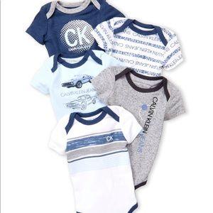 Calvin Klein Onesies (set of 5)
